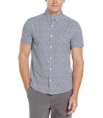 men's big and tall scratch print houndstooth shirt