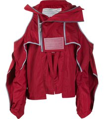 a-cold-wall* cold shoulder jacket - red