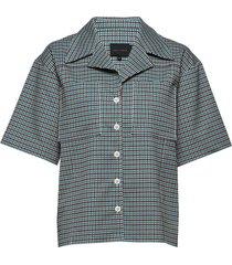 seven shirt overhemd met korte mouwen groen birgitte herskind