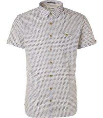 no excess shirt, s/sl, ao printed, stretch, m white