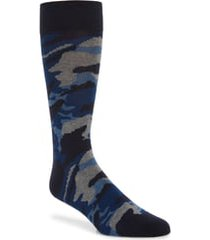 men's cole haan modern camo socks, size one size - blue