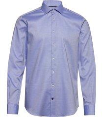 dobby flex collar sl skjorta business blå tommy hilfiger tailored