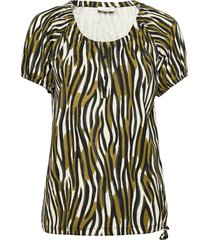 fqbetina-ss-wild blouses short-sleeved grön free/quent
