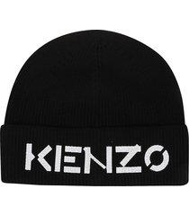 kenzo printed beanie