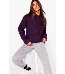womens we're on track pullover hoodie - plum