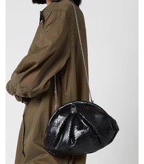 núnoo women's saki clutch - black