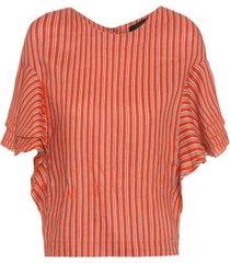 blusa camadas risca animale - laranja
