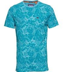 whistler geo tee t-shirts short-sleeved blå superdry