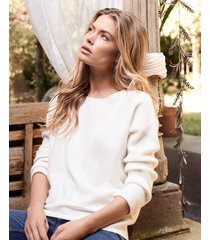 cashmere trui met fijngebreid ribpatroon