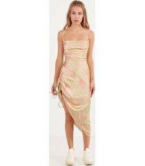 gedrapeerde jurk met print