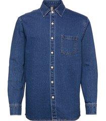 jazz skjorta casual blå mango
