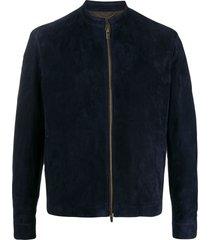 ajmone long sleeve zipped jacket - blue
