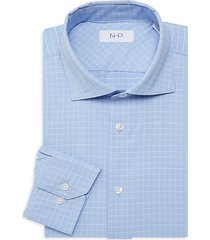 extra slim-fit glen plaid dress shirt