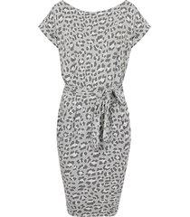 leopard jurk grijs
