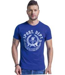 camiseta adulto masculino azul rey marketing  personal