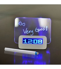 reloj despertador digital led fluorescente reloj digital-