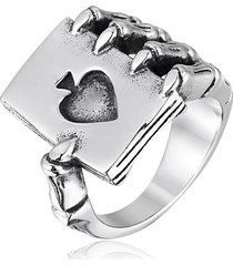 anello per uomo a forma di anello in acciaio inossidabile da uomo con picche gotiche