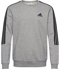 essentials fleece cut 3-stripes sweatshirt sweat-shirt tröja grå adidas performance