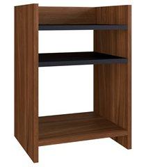 mesa lateral colle preto e madeirado 50x35x28,8cm