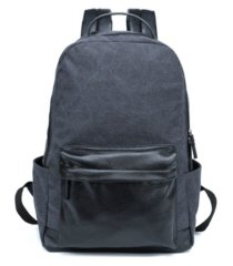 px men's canvas and vegan leather backpack