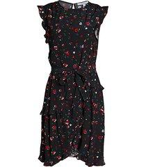 lyra belted floral dress