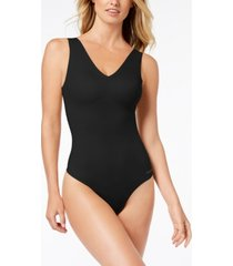 calvin klein invisibles comfort v-neck thong bodysuit qf4892