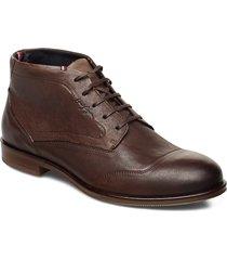 dress casual leather boot snörade stövlar brun tommy hilfiger