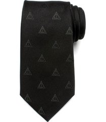men's cufflinks, inc. 'harry potter - deathly hallows' silk tie, size regular - black