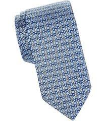 chainlink-print silk tie