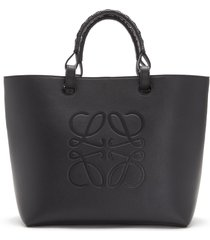 loewe anagram leather tote - black