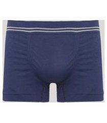 cueca masculina boxer sem costura azul marinho