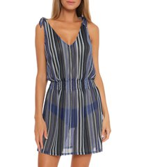 women's becca pierside cover-up dress, size large - blue