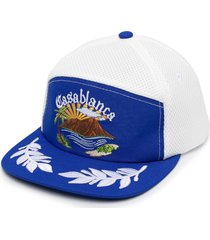 casablanca logo mesh-panel cap - white