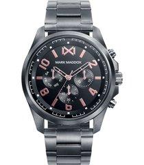 reloj gris metal mark maddox hombre