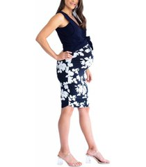 blooming women by angel maternity/nursing swing tank pencil skirt outfit