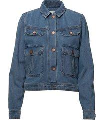 jenelle jacket ma18 jeansjacka denimjacka blå gestuz