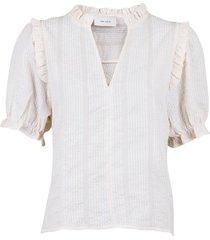 rosalie mini check blouse