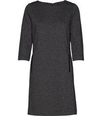 d1. dogtooth jersey cl shift dress knälång klänning grå gant