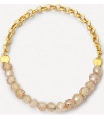 pierścionek be natural złocony z cyrkonami