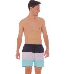 pantaloneta de rayas - hombre