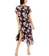 inc floral asymmetrical-hem a-line dress, created for macy's