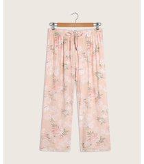 pantalón capri con cordón en pretina