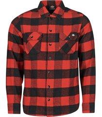 overhemd lange mouw dickies new sacramento shirt red