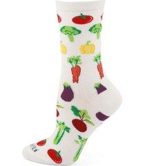 women's vegetables bamboo crew socks