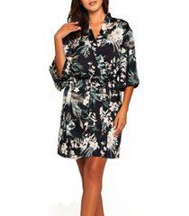 women's bella floral day and night robe with sleeves