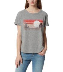 frayed carleigh desert sunset graphic t-shirt