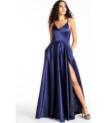 b darlin juniors' v-neck satin gown