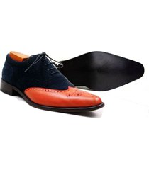 handmade two tone suede leather shoes formal wedding party dress casual shoes