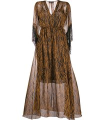 antonelli all-over print dress - brown
