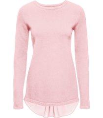 maglione con inserto (rosa) - bodyflirt